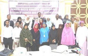 Cilmi- baadhis ku saabsan tacadiyadda ka dhanka jinsiga (WQ: waxa soo saaray: Amplifying civil society voice on GBV coalition members in Somaliland)